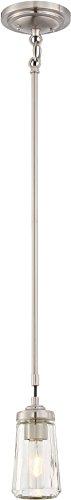 Minka Lavery 3301-84 Poleis Mini Pendant Ceiling Lighting, 1-Light, 60 Watt, Brushed Nickel