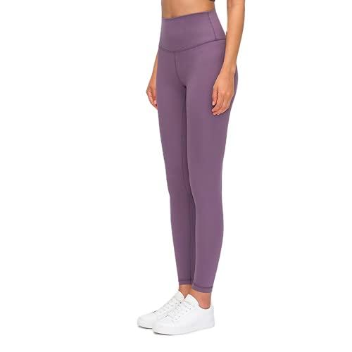 QTJY Pantalones de Yoga Ajustados de Cintura Alta para Mujer, Pantalones Sexis y Suaves para Correr, Pantalones de Entrenamiento para Celulitis, Pantalones de chándal K M