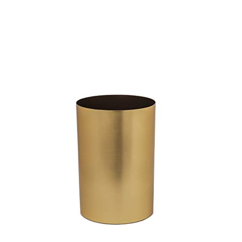 Umbra Metalla 4.5-Gallon Trash Can, Matte Brass