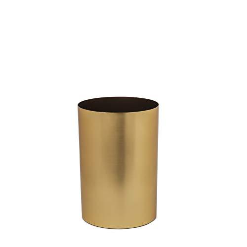 Umbra Metalla 082870-221 Bote de basura, 18 L, Dorado (Matte Brass), 10' x 10' x 14.4'