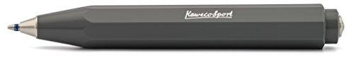 Kaweco Skyline Sport Grau Business Kuli aus hochwertigem Kunststoff im Acht Kant Design I 12g leichter Taschen-Kugelschreiber mit zuverlässiger Herzkurvenmechanik I Druckkugelschreiber 10,5cm