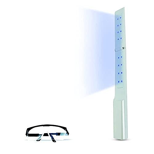 LOOKSMITT UV Light Sanitizer Wand for Travel USB - Portable Rechargeable Cell Phone Sterilizer - Ultraviolet Handheld Equipment