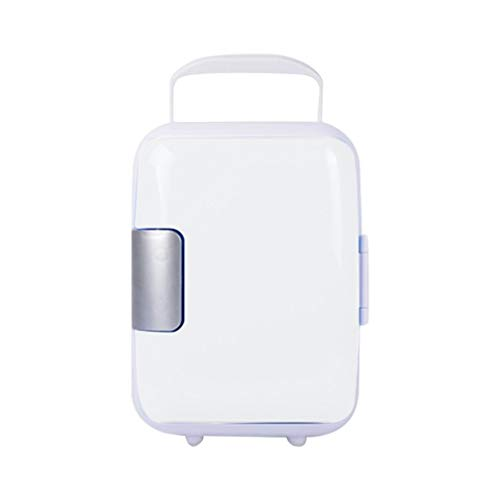 YELLAYBY Quick Cooling 4L Mini Home Car Dual-Use Refrigerators Low Noise Car Fridge Freezer Cold Icebox Thermal Heat Preservation Box Mini Portable (Color : White)