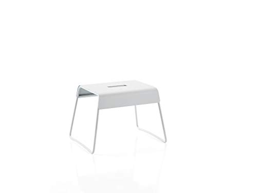 Zone Denmark A-Stool Trittschemel/Tritthocker aus Stahl, stabil und rutschsicher, 39 x 30 x 27,5 cm, hellgrau (Soft Grey)
