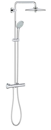 Grohe 26128001 Euphoria 2.5 Gpm Shower System with Thermostat for Wall Mount, Starlight Chrome