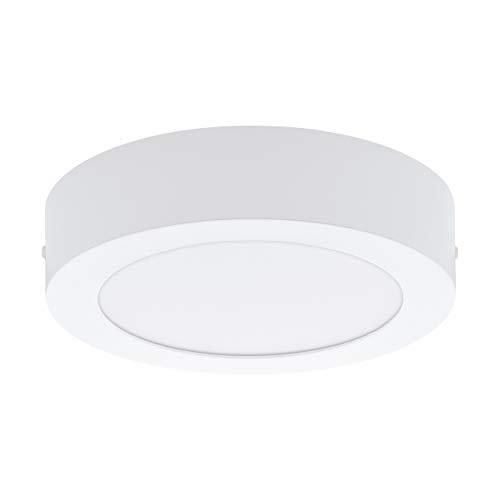 Preisvergleich Produktbild EGLO LED Deckenleuchte Fueva 1,  1 flammige Deckenlampe,  Material: Metallguss,  Kunststoff,  Farbe: Weiß,  Ø: 17 cm,  neutralweiß