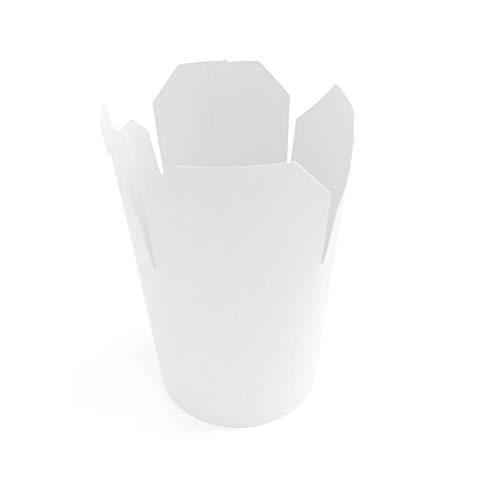 Extiff - Confezione da 50 scatole in Cartone Bianco, Pasta Box per pasta, pasta, piatti pronti,...