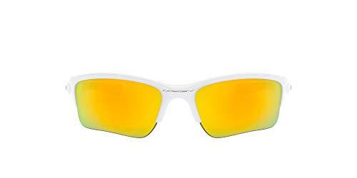 Oakley Men's OO9200 Quarter Jacket Sunglasses, Polished White/Fire Iridium