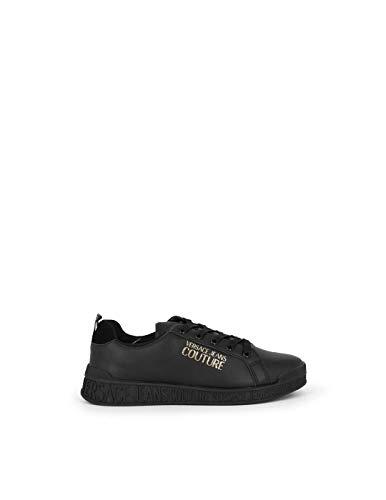 VERSACE JEANS COUTURE E0VZASP1 - Zapatillas bajas negras con logotipo de purpurina 38