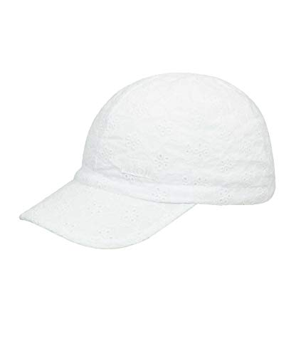 Döll Mädchen Baseballmütze Cap Lochstickerei, Größe:55, Präzise Farbe:Weiß