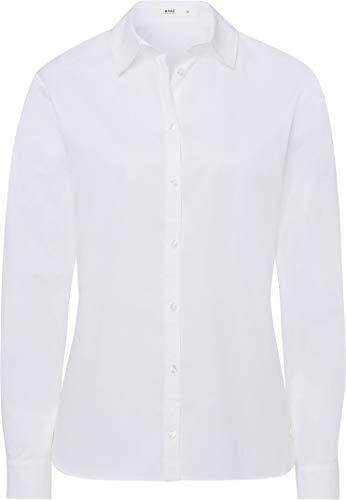 BRAX Damen Style Victoria Hemdkragen Klassisch Bluse, White, (Herstellergröße: 44)
