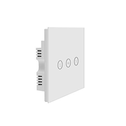 JinvooSmart UK WiFi interruptor táctil, mando a distancia inalámbrico, interruptor de cortina de ventana, controlador interruptor de persiana, funciona con Alexa Echo y Google Home
