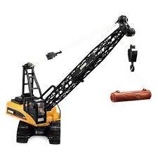 RC Auto kaufen Baufahrzeug Bild 3: s-idee® S1572 Rc Kranwagen Bagger mit Ketten Licht Sound Metallbauteile 15 Kanal 1:14 mit 2,4 GHz Kran Huina 1572*