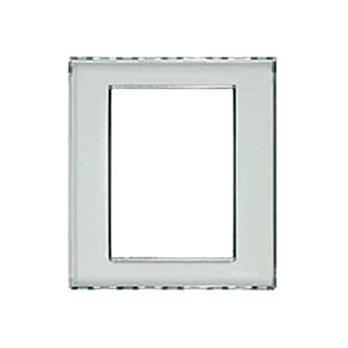 Bticino Legrand N4826KR - Placa rectangular 3 + 3 módulos Livinglight Kristall