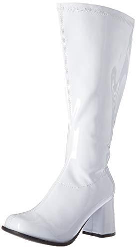 Ellie Shoes Women's GOGO-W Knee High Boot, White, 8 M US