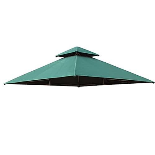 QAQWER Techo de Repuesto para Gazebo de Jardín 3x3m Techo De Reemplazo, Material de Poliester Impermeable y Protector Solar, Techo de Reemplazo para Toldos de Cenador