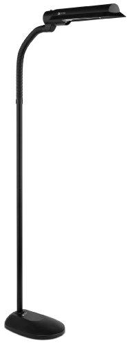 OTT-Lite OttLite T81G5T Wing Shade VisionSaver 18-Watt, Black Floor Lamp