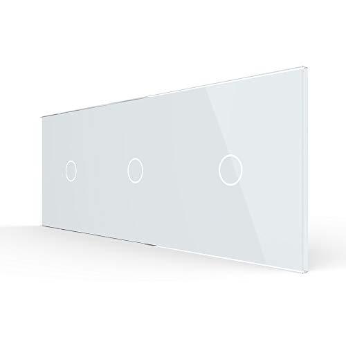 LIVOLO Nur Glasblende 3 Fach für Lichtschalter VL-C7-C1/C1/C1-11-A Weiss
