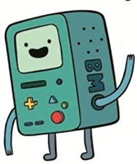 2 Inch BMO Beemo Decal Adventure Time with Finn and Jake Removable Wall Sticker Art Home Decor Kids Room 2 1/2 Inch by 2 1/2 Inch Tall