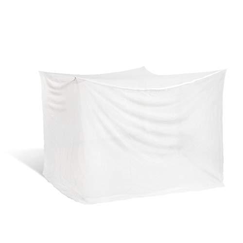 Noorsk - Zanzariera quadrangolare per letto matrimoniale, a baldacchino, dimensioni 200 x 200 cm