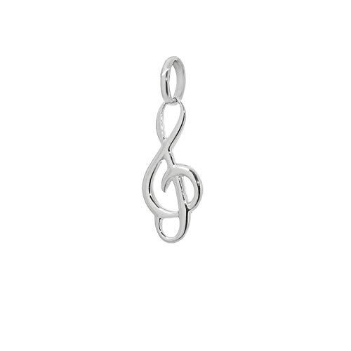 NKlaus Notenschlüssel Kettenanhänger 925 Sterlingsilber Silber Violinschlüssel 15mm Musik 9115