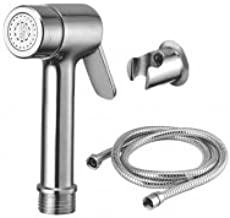 StylEra CIERRA BRASS HEALTH FAUCET JET SPRAY TOILET SPRAY SET (with SS Stretchable Tube and ABS Wall Hook) (1 Mtr)