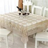 Tissu de dentelle de tissu de dentelle de nappe brune Couverture de table rectangulaire élégante pour la décoration intérieure, fêtes d'anniversaire, réceptions de mariage, tables de salle à manger