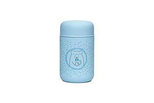 Suavinex 305916 - Suavinex, Termo Papillero para Bebé. Acero Inoxidable. Cierre Hermético, 350Ml Color Azul, niños