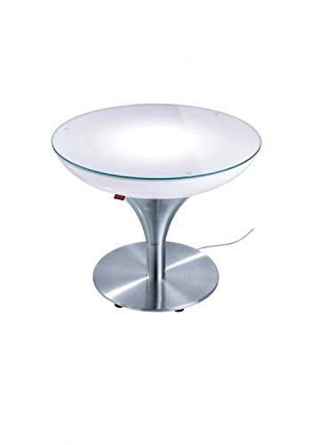 Moree LED Lampe de Pied Lounge M 55 LED Pro Accu, métallique/Transparent/Blanc, Aluminium et Plastique, 27 – 06 – 55