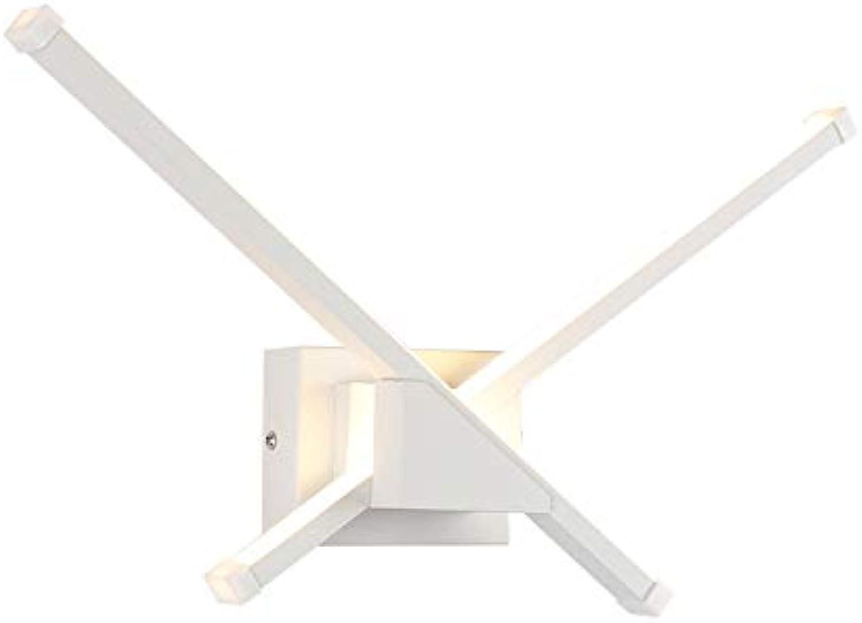 Moderne LED Wandleuchte Unregelmige X Form Wei Innenbeleuchtung Badezimmerspiegel Licht Einfach Zu Reinigen Energiesparlampe Warmes Licht 220V