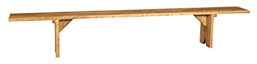 Biscottini Banc en bois massif de tilleul finition naturelle Made in Italy L300XPR25XH50 cm