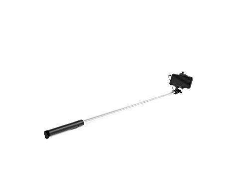 ultron selfie cable compact black, 19 - 78 cm Selfie-Stick mit Kamera-Auslöser am Griff, Für Smartphones wie Samsung Galaxy , iPhone und weitere