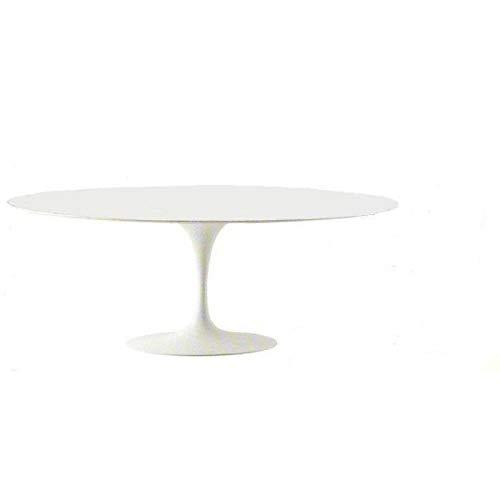Tavoli.Design 199x121 Table Tulip Eero Saarinen Ovale Laminé Liquide Blanc