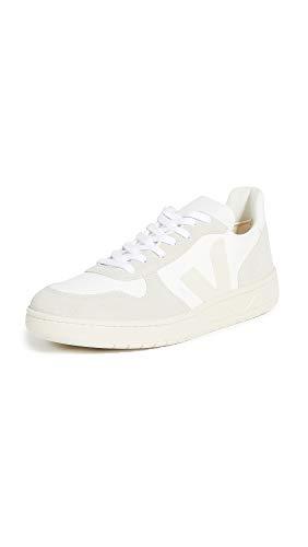 Veja Zapatillas V-10 para hombre, blanco (Blanco/Natural/Pierre), 45 EU