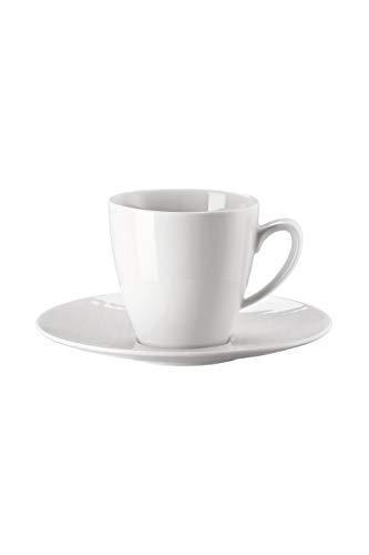 Rosenthal Kaffee-Becher hoch mit Untertasse Mesh Weiss