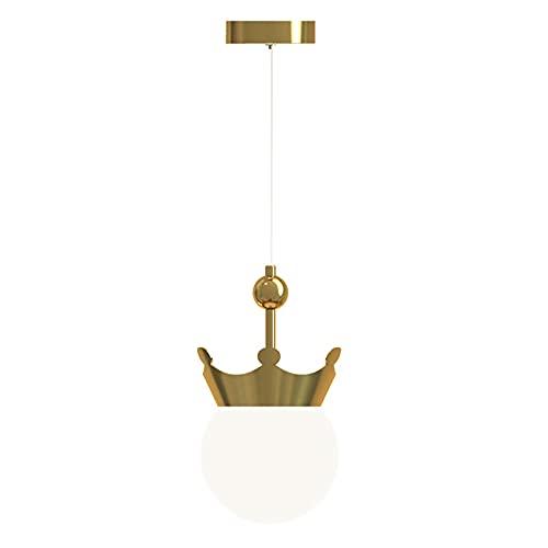 LWJDM Lámpara Colgante led Moderna Cobre Iluminación Colgante Altura Ajustable Iluminaciin Colgante de Techo Pantalla de Cristal Luces Colgantes para Isla de Cocina 13W Regulable
