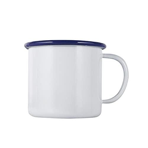 Verdickte Curling Emaille Tasse Retro Nostalgische Wassertasse Kreative Kaffeetasse Retro Runde Kreative Teetasse - Bunt - 6ML