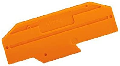 WAGO 282-333 Orange End Plate; 2.0 mm Thick - 25 item(s)