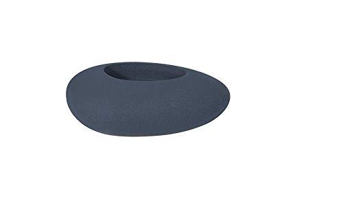Degardo Storus VI Design (Granit anthrazit) 82,5cm x 52cm x 30cm, Gartendeko - Blumentopf - Blumentrog - Pflanzstein - Dekostein - Innen und Außen - PE-Pflanzgefäß