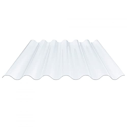 Lichtplatte | Wellplatte | Lichtwellplatte | Profil 177/51 | Material PVC | Breite 1097 mm | Länge 1,25 m | Stärke 1,4 mm | Farbe Klarbläulich