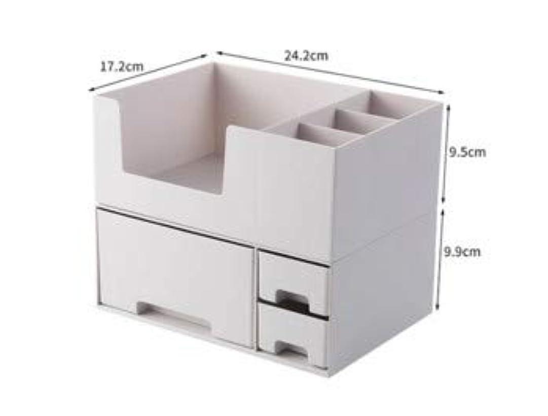 甘い島加速度化粧品収納ボックスプラスチックデスクトップ仕上げボックスマスクスキンケア製品ラック口紅ボックス収納 (Color : ホワイト)