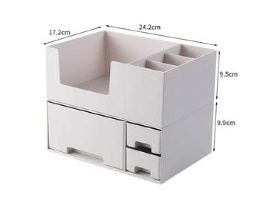 またはどちらか主質素な化粧品収納ボックスプラスチックデスクトップ仕上げボックスマスクスキンケア製品ラック口紅ボックス収納 (Color : ホワイト)