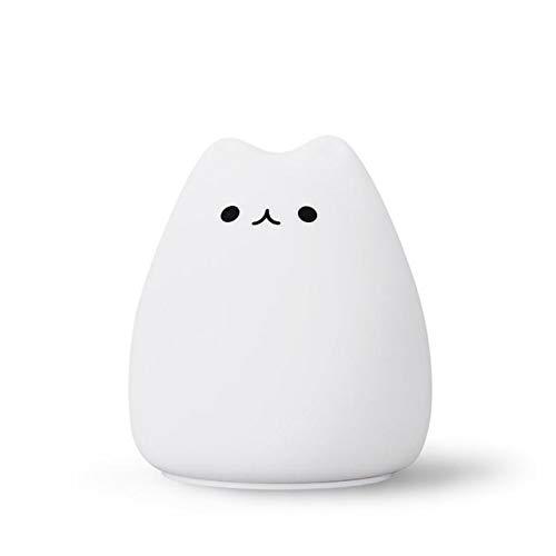 Kawaii Mini Cute Cartoon Night Light Cat Shaped Pat Light Lamp Soft Silicone Nightlight For Kids Toy Gifts Room Decor