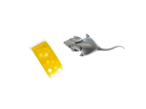 Rata pendientes de queso Miniblings pendientes del ratón de la rata gris pieza de queso