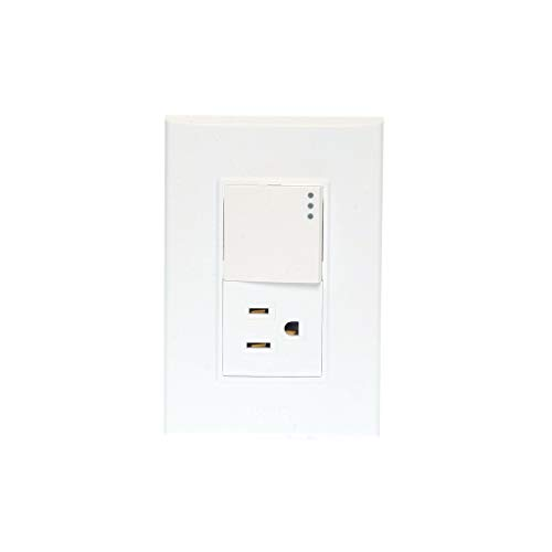 iGoto PS612-B Placa de 3 Módulos, Blanco + Apagador y Contacto 1.5 Módulos, Style, pack of/paquete de 1