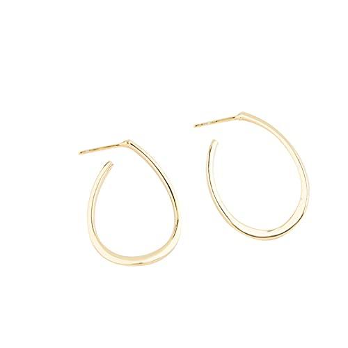XIANNVQB S925 Pendientes, Temperamento En Forma De U Personalidad Chicas Ear Studs Aguja De Oído Tendencia De La Moda De La Línea De Orejas Regalo De Joyas, Oro, Una Talla