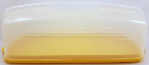 TW 1a Tupperware - Königs-Kuchen-Behälter Stollen-Prinz - gelb