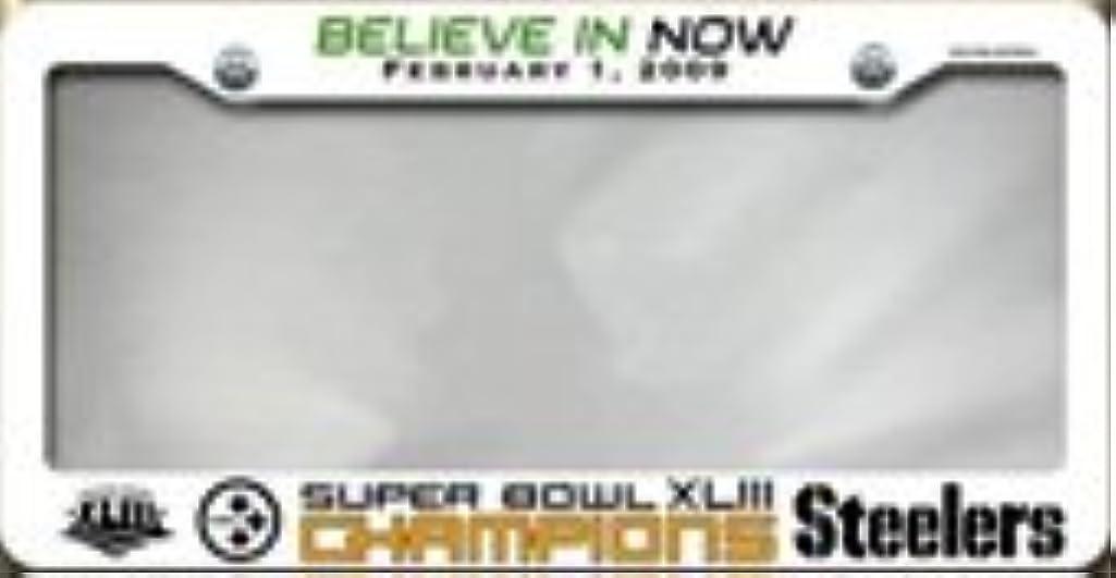 Pittsburgh Steelers Super Bowl XLIII Champions White Plastic License Plate Frame