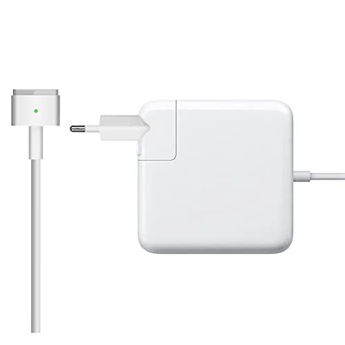 Cargador tipo T para Apple Macbook Pro/Air Magsafe 2 Potencia 60 W compatible con los modelos 35 W y 45 W