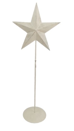 Craft Outlet Tin Star met Krans Stand Tafel Topper, Meerkleurig, 21 Inch